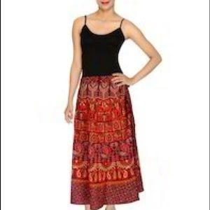 e083339178 Dresses & Skirts - Boho Indian Ethnic Cotton Wrap Skirt